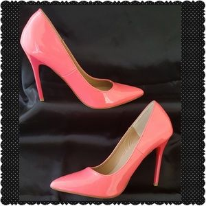 Madden Girl Patent Day Glow Pink Heels